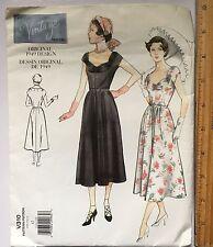 Vogue Vintage Model Misses Size 12 Dress Uncut 1949 Design Sewing Pattern 1999
