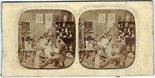 stéréo panoptique tissu vers 1865 / potier émailleur / photo métiers