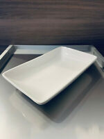 Elegante Porzellan Servierteller rechteckig weiß 6 Stück NEU toll für Tapas Meze