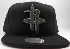 Houston Rockets Mitchell & Ness Tonal Grey Solid Basic HWC Snapback Hat Cap NBA