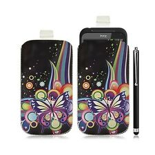 Housse coque étui pochette pour HTC Incredible S avec motif HF05 + Stylet luxe