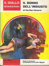IL SONNO DE3LL'INGIUSTO Hartley Howard 753 il giallo Mondadori 15 settembre 1963