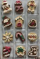 12 mini Gingerbread man Cookie Christmas tree Ornaments Miniature Crafting 2013