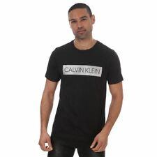 Men's Calvin Klein Short Sleeve Crew Neck Regular Fit T-Shirt in Black