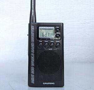 Grundig Mini 300 World Band Receiver Handheld Compact Black SW/FM Portable Radio