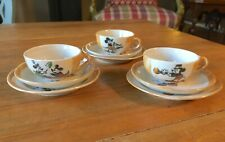 1930s Mickey Mouse Disney Productions Child's Tea Set 3 CUPS SAUCERS PLATES