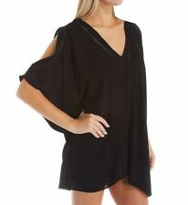 MSRP $52 Raisins Cover Ups Samba Caftan Cover Up c710092 L Black Size LARGE
