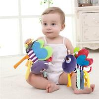 Baby Rattle Ring Bell Toy Soft Plush Crib Bed Hanging Teether Animal Toys CF