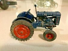 Vintage Boxed Britains No.128F Lead Fordson Major Tractor Model - Rubber Tyres