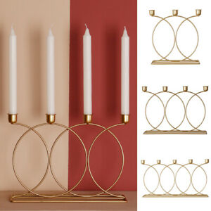 3D Dining Room Candle Holder Home Decor Nordic Style DIY Wedding Ornament Iron