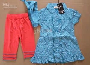 Girls green spotted dress & leggings outfit new with tags size 1,2,3,4