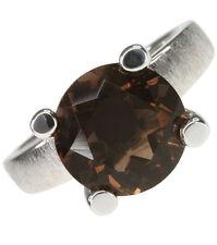 Smoky Quartz Round Fine Gemstone Rings