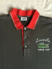 Mens grey Lacoste polo shirt XXL size 7 great used condition
