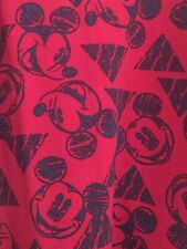 NWT LuLaRoe Disney Amelia Vintage Mickey Mouse Triangles Dress Red 3XL 201123