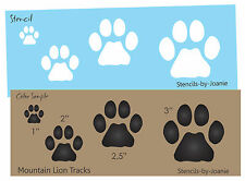 STENCIL Mountain Lion Paw Print Animal Track Outdoor Rustic Wildlife Art Signs