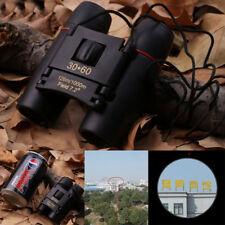 Portable Night Vision Mini 30x60 Binoculars Telescope Telescopio with Bag BLUE