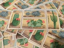 10  Vintage Desert Plant stamps  For Holiday, Wedding And Valentine Mail