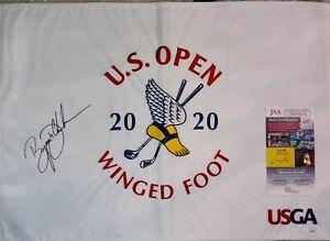 PGA STAR Bryson DeChambeau autographed 2020 US OPEN Winged Foot flag JSA Cert