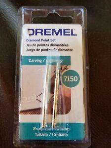 "NEW! Dremel Diamond Point Set 7150 Carving/Engraving 1/8"" shaft"