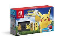 Nintendo Switch Pokemon Let's Go Pikachu Bundle 32GB System Console w/ Poke Ball