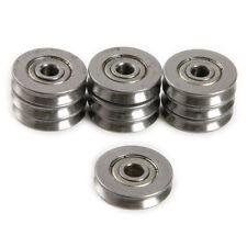 10pcs 5*22*5MM Metal 1.5mm Deep V Groove Guide Pulley Rail Ball Bearings Wheel