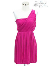 A16 NEW THEORY Designer Dress Size 0 XS Extra Small Pink Sundress Formal SILK
