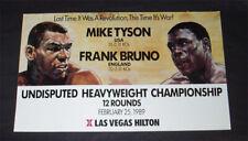 Onsite Poster, Mike Tyson vs Frank Bruno, 2/25/1989 Original