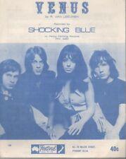 "SHOCKING BLUE   Rare 1969 Australian Only OOP Original Pop Sheet Music ""Venus"""