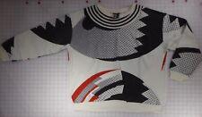 Rolling Stones Steel Wheels '89 Black, Red & White Geometric Sweatshirt Size 2