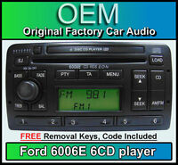 Ford Focus 6 Disc changer radio, Ford 6006 6 CD player car stereo + keys & code