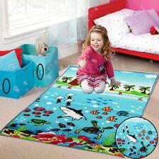 Underwater Sea Life Floor Mat Non Slip For Kid / Children Play Room Nursery Rugs