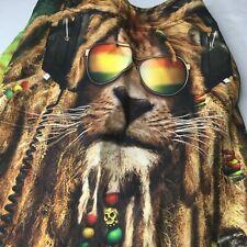 The Mountain Tie Dye Swim Board Shorts Sz 30 Rasta Lion Rastafarian Marley