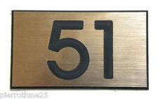 plaque gravée numéro boite aux lettres  porte appartement 60x35 MM (2 versions)