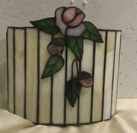 Stained Glass 3D Rose Silouette Candle Holder, Unique