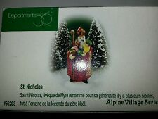Department 56 Alpine Village Series St. Nicholas Figure Christmas