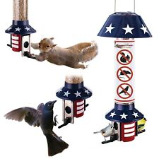 Hanging Metal Squirrel Proof Wild Bird Feeder PestOff Mixed Seed Usa Design