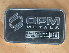 1oz Silver bar OPM (Ohio Precious Metals) .999 Fine Silver