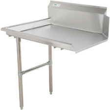 Commercial Stainless Steel Left Side Clean 48 Dish Washer Table 4 Dishwashing