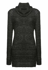 khujo Damen Pullover NANGA schwarz Grobstrick Strickpullover SALE -60%!