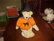 HALLOWEEN MUFFY VANDERBEAR - FLUFFY DRESSED IN HALLOWEEN SWEATER ,CAPE & HAT