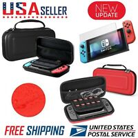 Nintendo Switch Carrying Case Hard Shell Portable Pouch Travel, Screen Protector