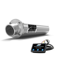 HMF Performance Slip On Exhaust Pipe Brushed EFI Optimizer Can-Am Outlander 650