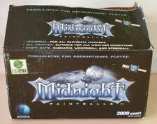 Xball Midnight 2000 Paintballs in 4 packs of 500 each. Light Blue Shell.