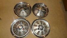 Set of 1964 Chevy Corvette wheelcovers. 64 Chevrolet Vette spinner hubcaps caps