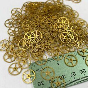 25 Flat Watch Wheels Large 12mm Steampunk Gear Parts Altered Art Watchmaker Lot