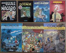 Condor, série complète de 7 tomes en EO*, de BE à TBE*