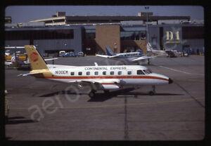Continental Express Embraer EMB-110 N130EM Kodachrome Aircraft Slide/Dia