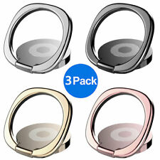 3x Finger Ring Cell Phone Holder Stand Metal Plate Rotating Magnetic Grip 360°