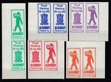 1981 Royal Wedding Alderney Packet Local Issue Set Of Five Different Colours In