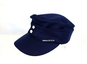 Replica WWII German Luftwaffe M43 FieldPanzer Wool Cap Hat Blue 59cm